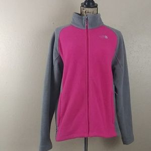 Women's The North Face fleece pink and grey XL